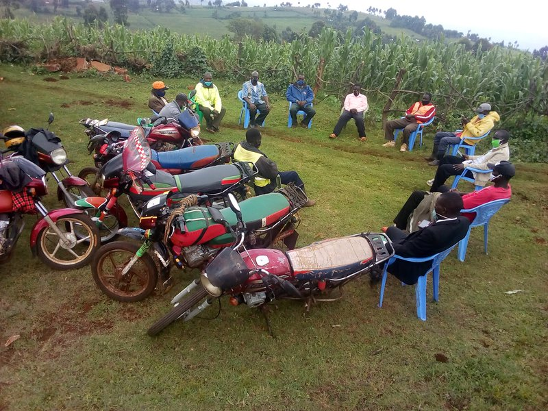Amani CBO peace dialogue for youth Boda Boda group in Mt.Elgon