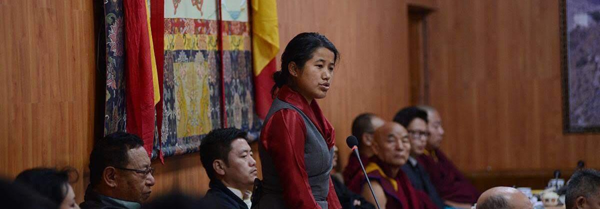 Lhagyari Namgyal Dolkar, a Tibetan activist and sitting Member of Parliament in the Tibetan government in exile