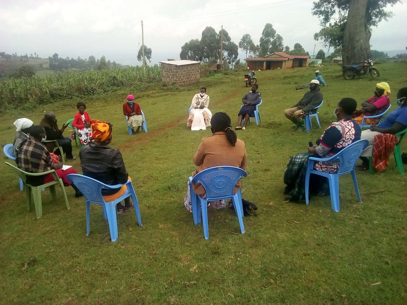 Amani CBO - Women participating in peace dialogue