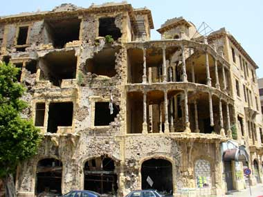 Damaged building, Beirut