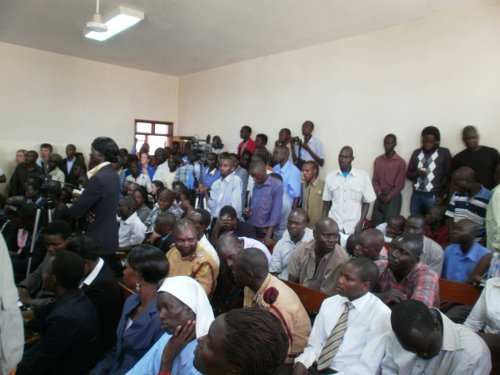 The ICD courtroom was fully packed for Kwoyelo's trial