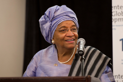 Ellen Johnson Sirleaf, one of the winners of the 2011 Nobel Peace Prize