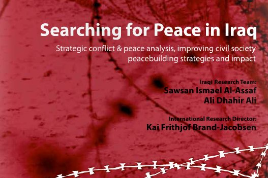The cover of 'Searching for peace in Iraq'