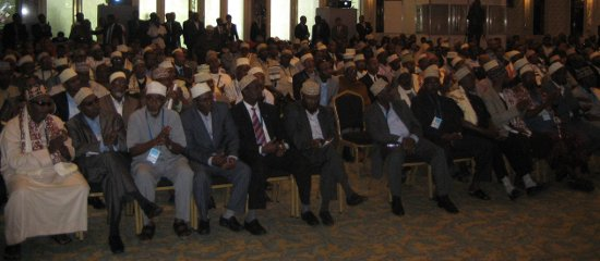 Conference attendees at the Somalia Civil Society meeting in Istanbul, Turkey.
