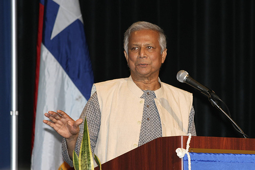 Muhammad Yunus, perhaps the world's most famous social entrepreneur, from Bangladesh. Photo published under a Creative Commons licence.