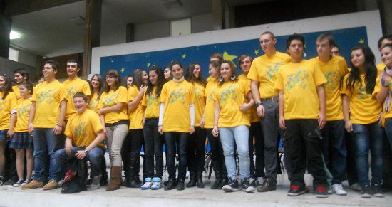 A dance and forum theatre performance on violence in schools, Nikola Karev High School, December 2011