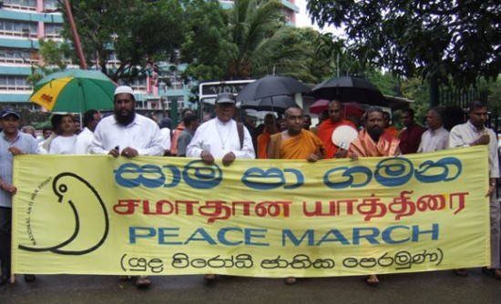 Peace march in Colombo, 2006. Image credit: Humanity Ashore.