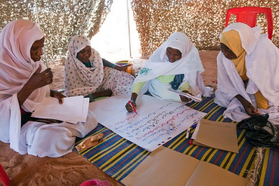 26 September 2012. Women attend a Workshop on the UN Security Council Resolution 1325 on Women, Peace and Security in Malha, North Darfur.
