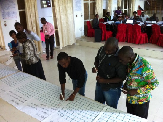 A Stimson Center workshop for civil society organisations in Goma, DRC. Image Credit: Stimson Center