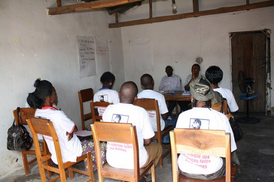 Human rights training for SOS FED field workers in the DRC. Image credit: The Advocacy Project, https://flic.kr/p/acfFCF