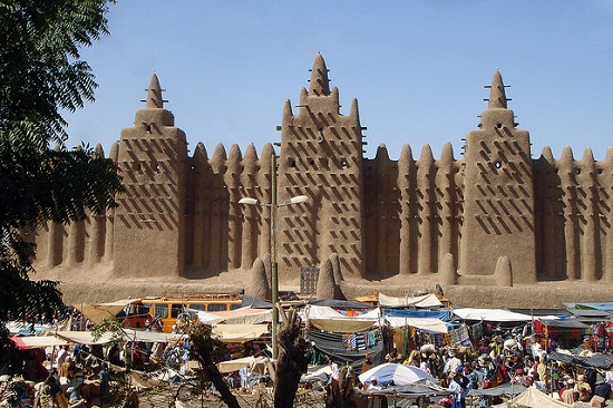 The famous mud Mosque at Djenne, in Mali. Image credit: Carsten ten Brink.