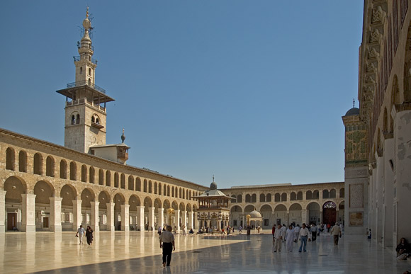 Umayyad Mosque, before it was damaged during the Syrian Civil War. Image credit: Chris Hill