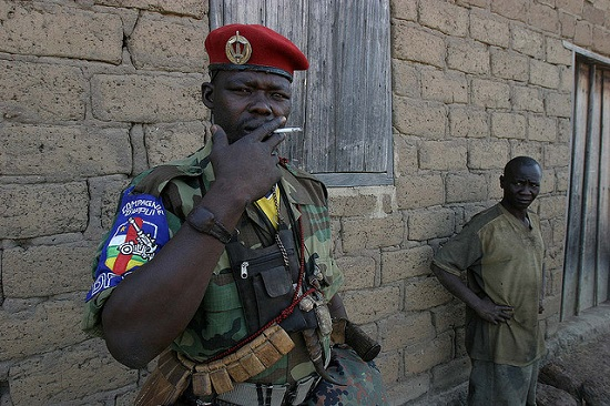An armed fighter in 2007. The Central African Republic has suffered from conflict for several years. Image credit: hdptcar