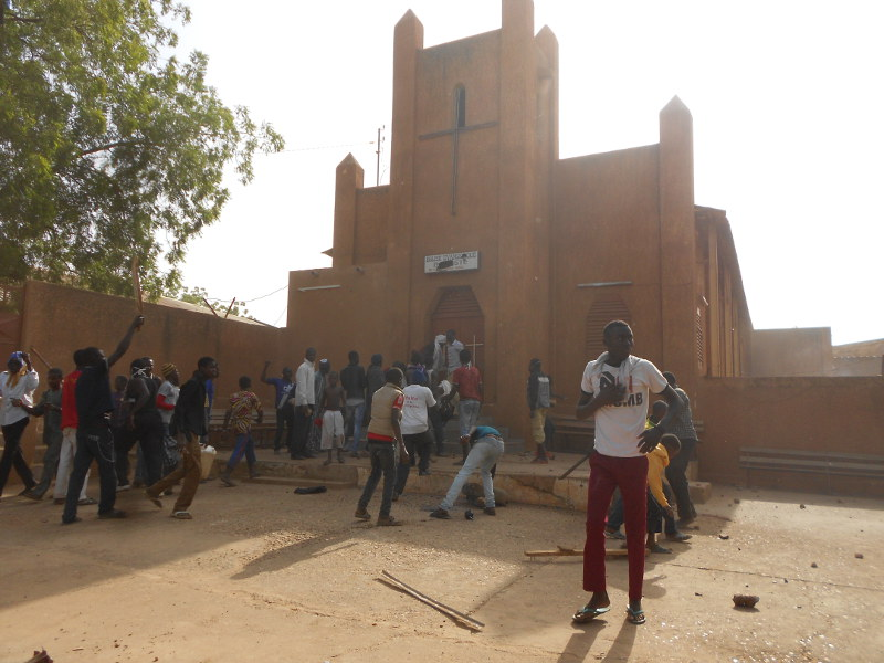 More than 40 Churches have been attacked and set on fire in Niger during the last week.