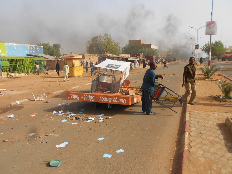 The biggest protests were in the capital Niamey, and second city, Zinder.