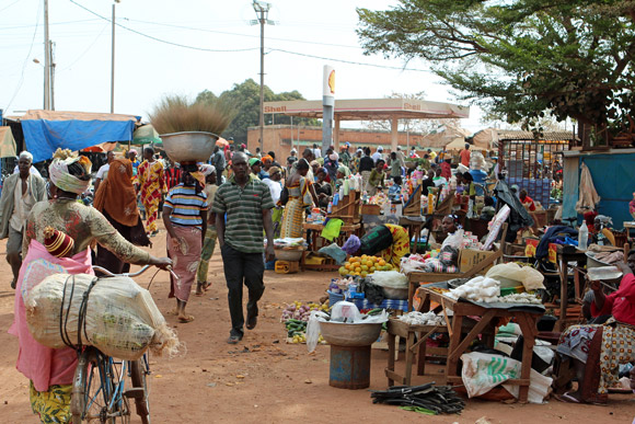 A market in Burkina Faso