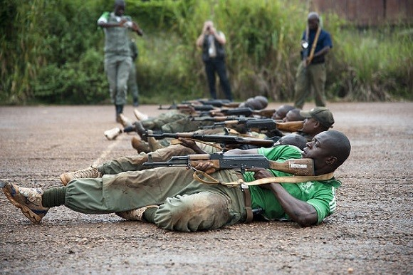 Soldiers training in CAR. Image credit: UN Photos