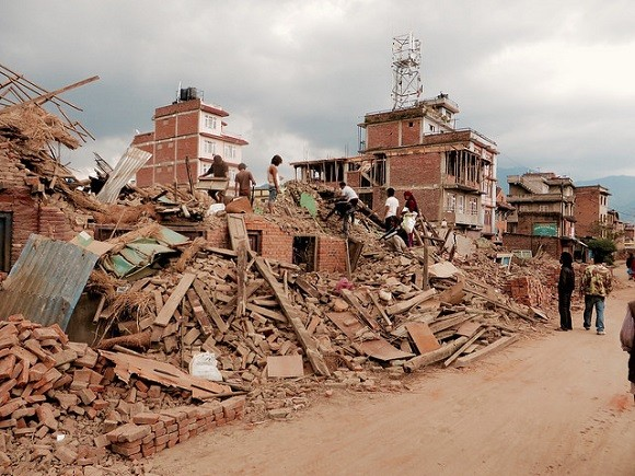 The earthquake in Nepal has caused huge damage. Image credit: SIM Central and South East Asia.