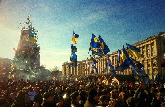 The Ukrainian capital Kiev saw months of protests during the winter of 2013/2014. Image credit: Ivan Bandura.