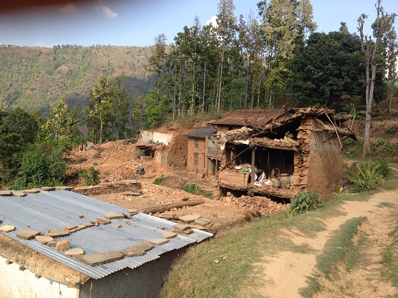 The earthquake has destroyed properties and livelihoods, and rebuilding infrastructure will take time. Image credit: Subindra Bogati