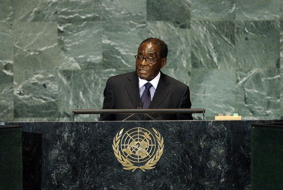 President Mugabe is the current leader in Zimbabwe. Image credit: United Nations Photo