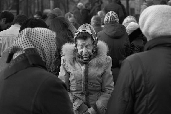 Many of those fleeing the conflict in the east have gone to the capital, Kiev. Image credit: Steve Evans.