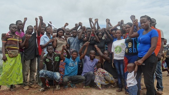 Youth united in the Central African Republic.